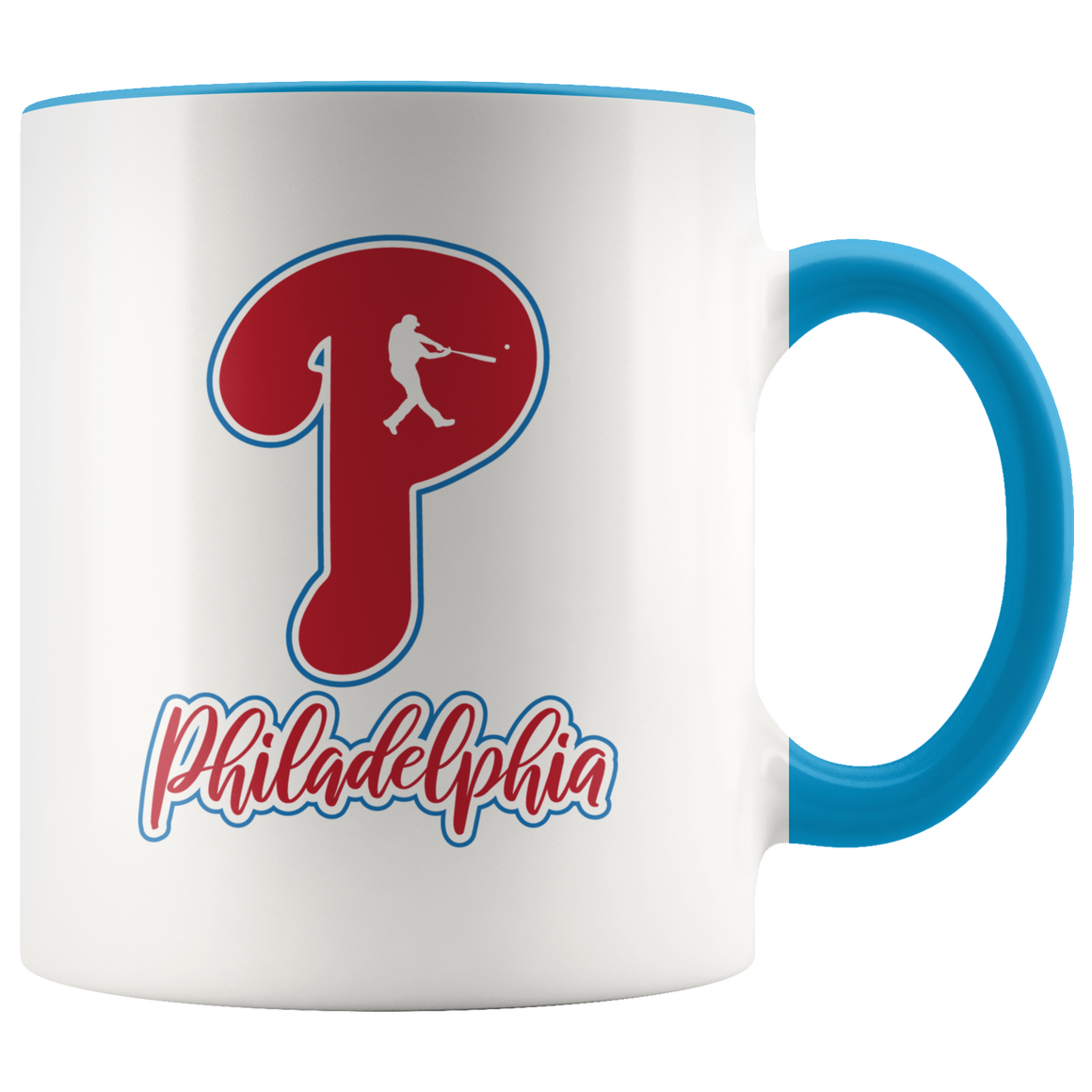 Philadelphia P Baseball 11oz Accent Mug