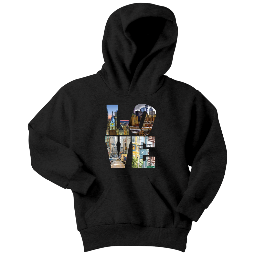 LOVE Philadelphia CIty Views Youth Hoodie