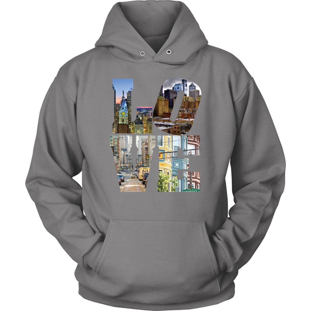 LOVE Philadelphia CIty Views Hoodie