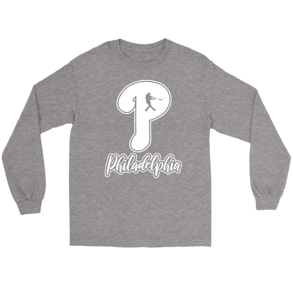 Philadelphia Baseball P Long Sleeve Tee