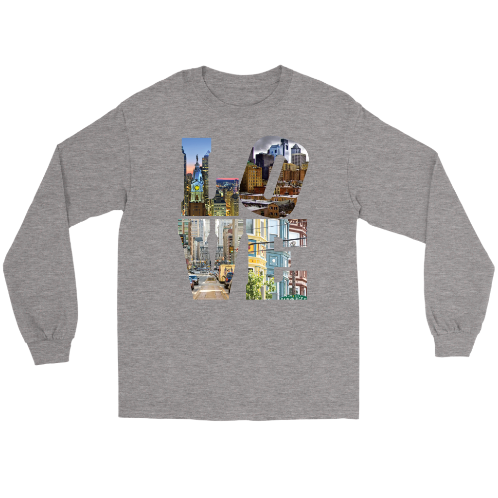 LOVE Philadelphia CIty Views Long Sleeve Tee