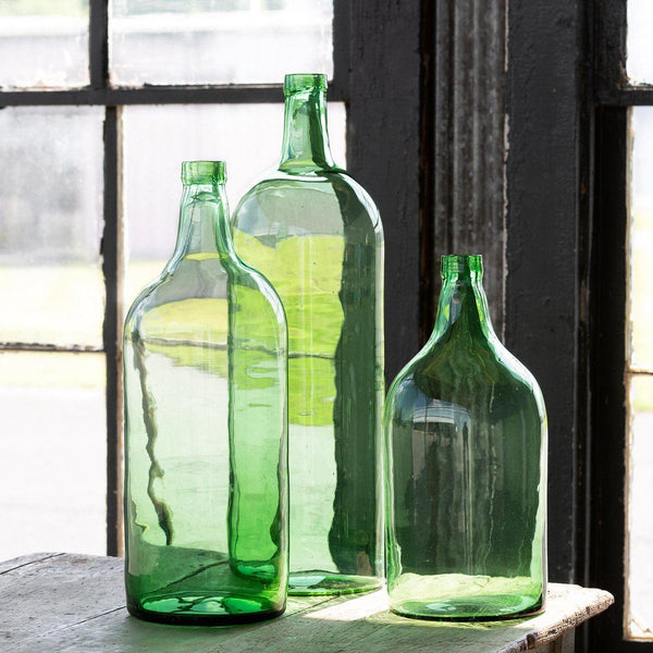 Recycled Glass Wine Bottle Vase, Medium - Sixty Park Lane