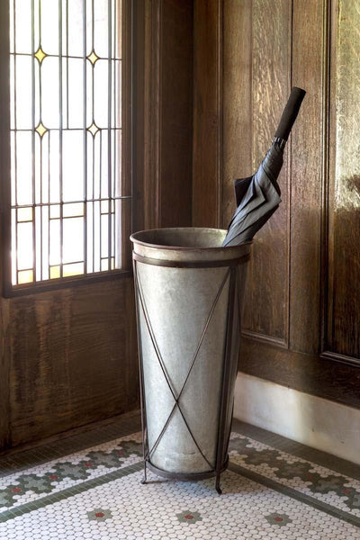 Metal Umbrella Planter - Sixty Park Lane