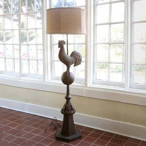 Metal Rooster Finial Floor Lamp - Sixty Park Lane
