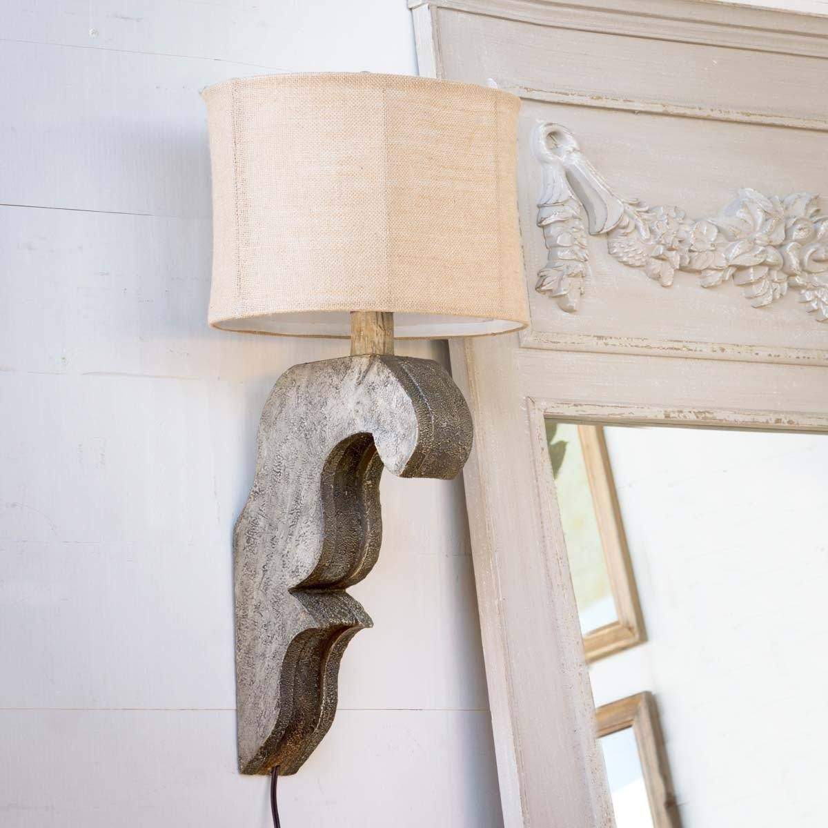 Corbel Lamp Antique Grey - Sixty Park Lane