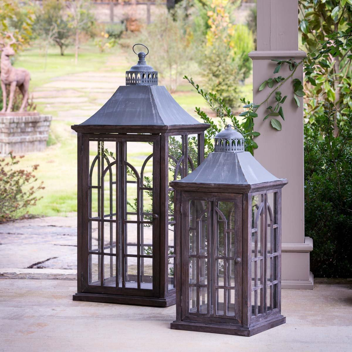 Palladian Window Estate Lanterns, Set of 2 Lanterns SIXTY PARK LANE