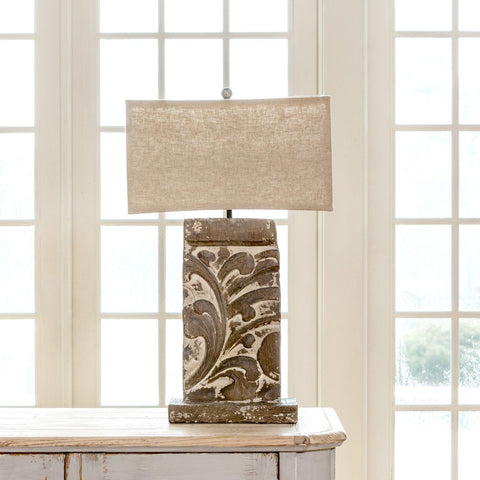 Floral Architecture Relief Lamp Table & Floor Lamps Sixty Park Lane