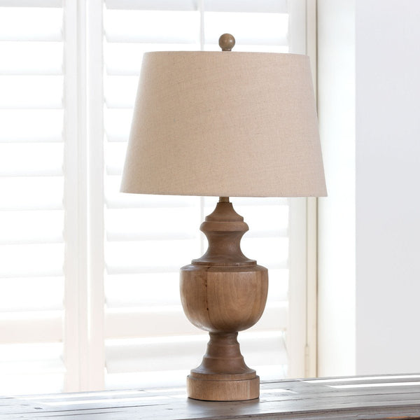 Wooden Urn Finial Lamp Table & Floor Lamps PHC