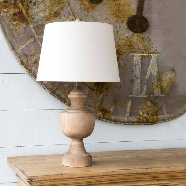 Wooden Urn Finial Lamp - Sixty Park Lane