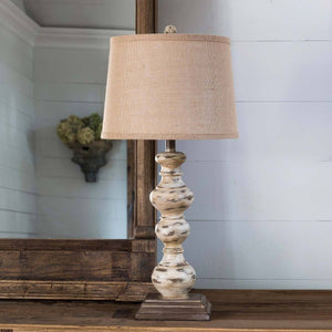 Antique Turned Spindle Lamp - Sixty Park Lane