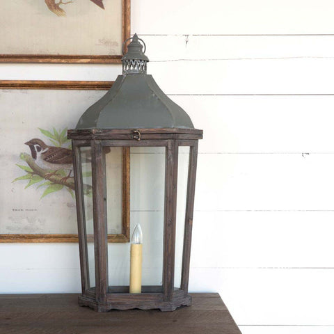 French-Style Mantel Lantern Lamp - Sixty Park Lane