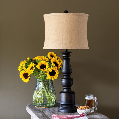 Coal Pillar Lamp Table & Floor Lamps PHC