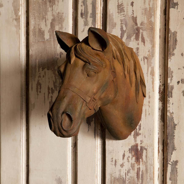 Estate Stone Wall Mount Horse Head Wall Decor Sixty Park Lane