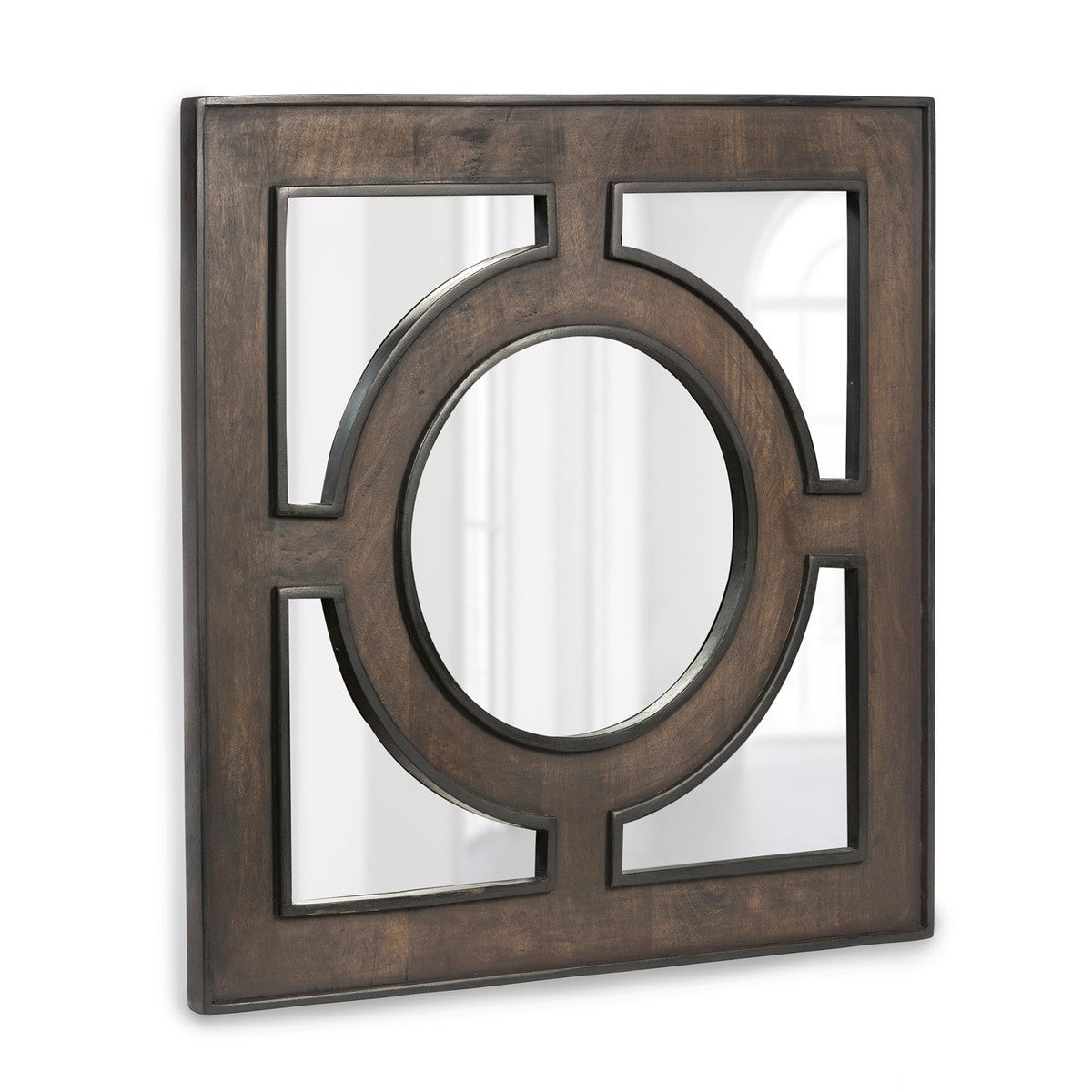 Wooden Portal Square Mirror