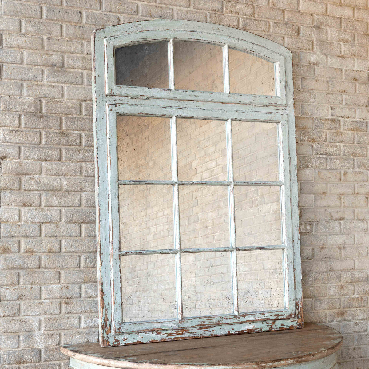 Painted Warehouse Window Frame Mirror