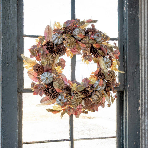 Farmhouse Autumn Wreath Seasonal SIXTY PARK LANE