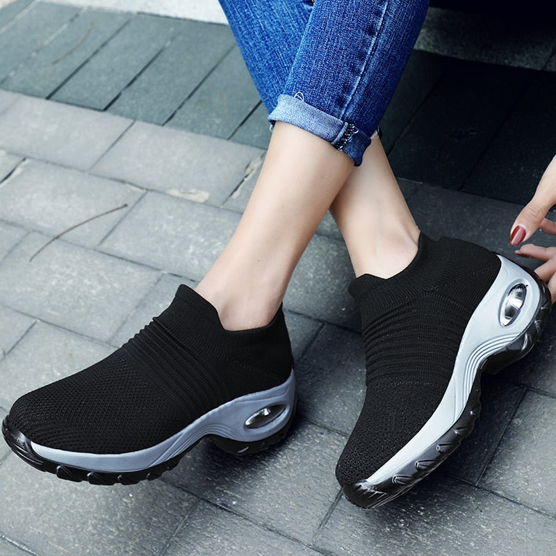 Women's Walking Shoes Sock Sneakers for Men and Woman