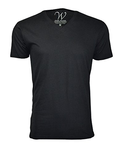 100% Cotton Made in The USA Ultra Soft Sueded Semi-Fitted V-Neck T-Shirt