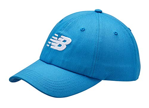 New Balance Men's and Women's 6-Panel Curved Brim Snapback Adjustable Cotton Twill Cap Peach Soda