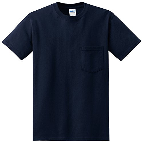 """Gildan Mens 61 oz Ultra Cotton Short Sleeve Pocket T-Shirt G230 -Navy XL"""