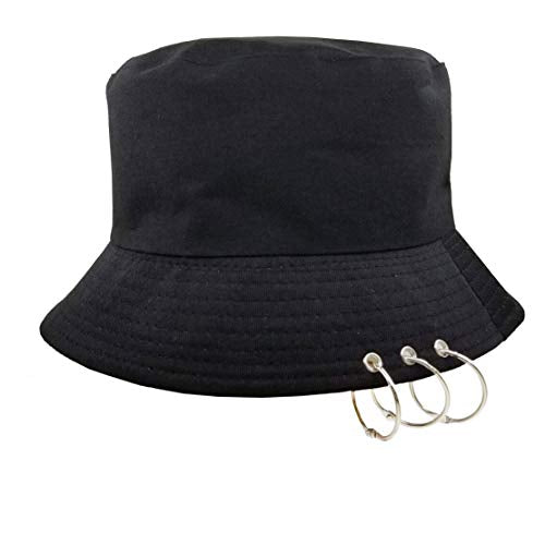 Kpop Bucket-Hat with RingsFisherman-Cap - Men Women Unisex Caps with Iron Rings