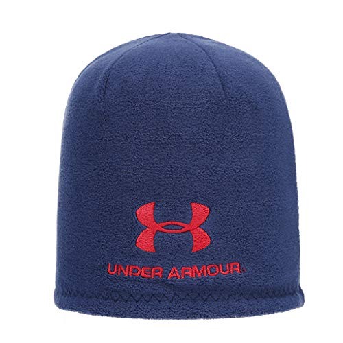 Under Armour Beanie Plain Skull Knit Hat Two-Sided Beanie Cap for Mens Womens