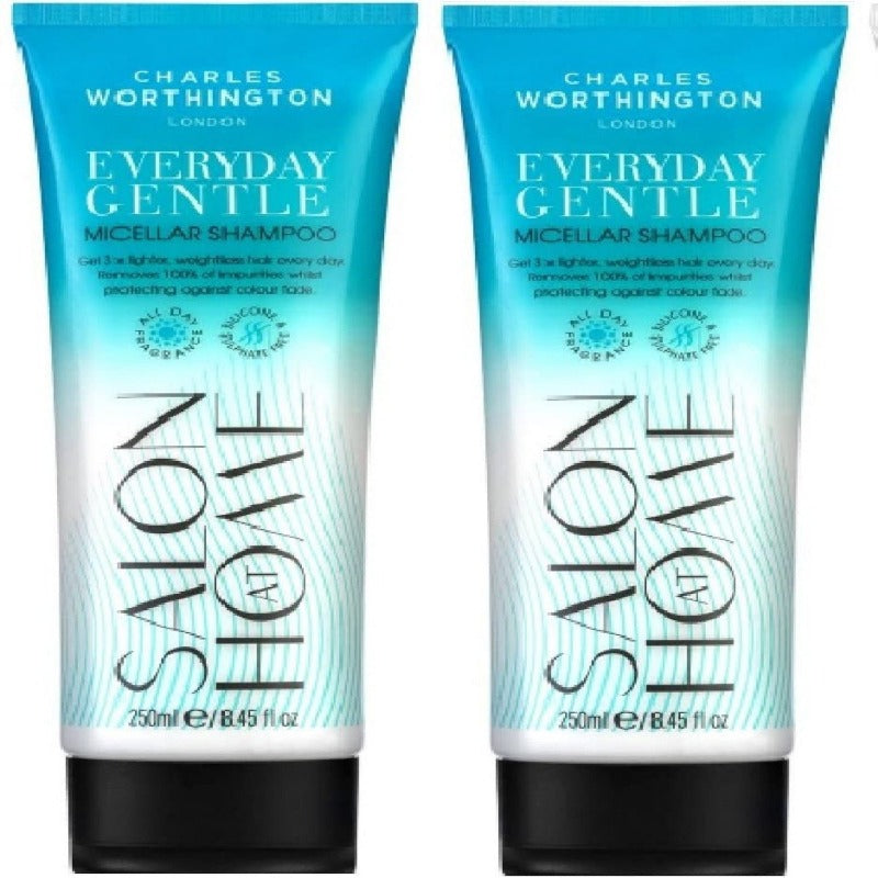 (2 PACK) Charles Worthington Everyday Gentle Micellar Shampoo Colour Protection x 250ml