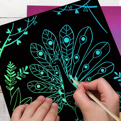 Scratch art card