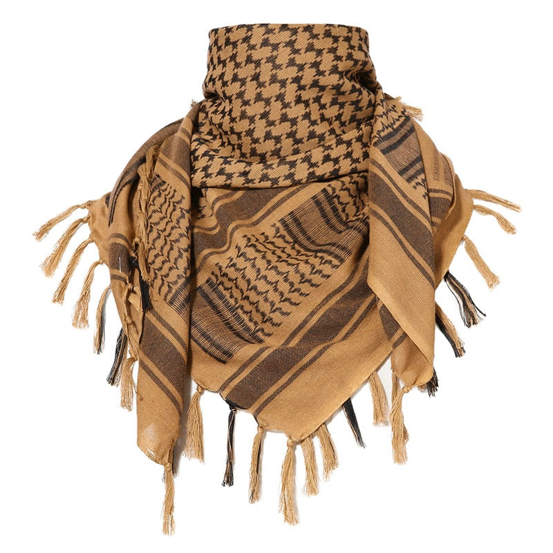 Tan Head Wrap & Scarf