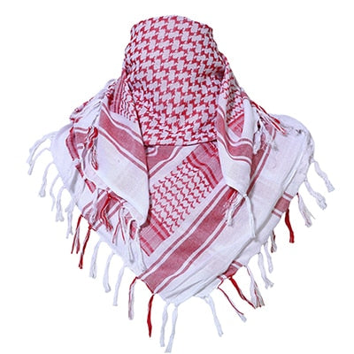 White N Red Head Warp & Scarf