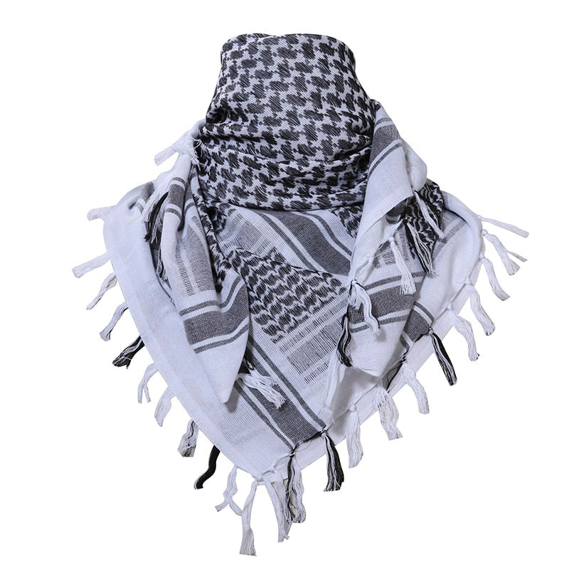 White N Black Head Wrap & Scarf