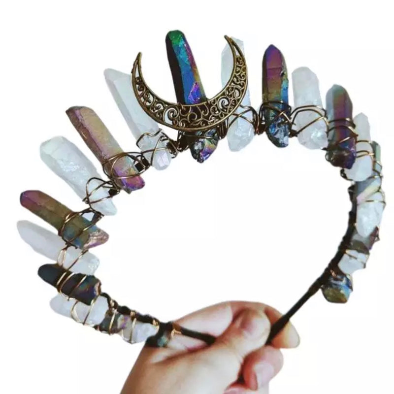 Mixed Color Boho Vintage Moon Aura Crown - The Carly Morgan