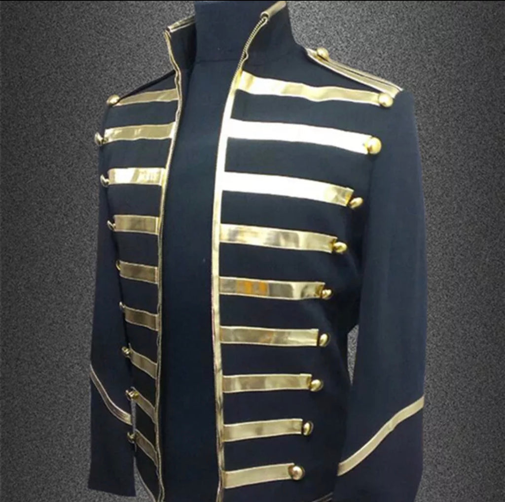 Men's Gold Lining Marching Band Jacket - The Carly Morgan