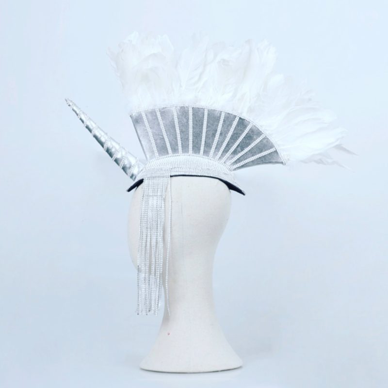 Unicorn Fohawk Headpiece - The Carly Morgan