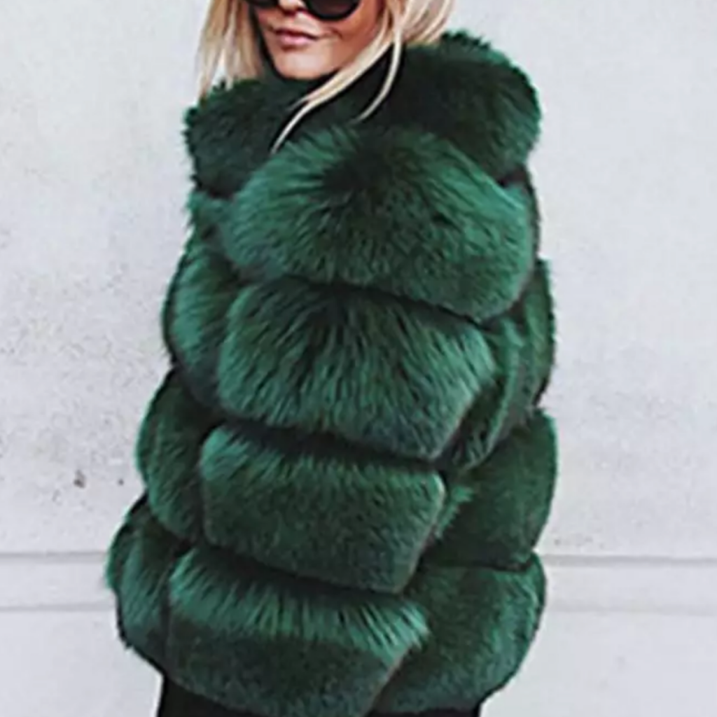 Green Lush Faux Fox Fur - The Carly Morgan