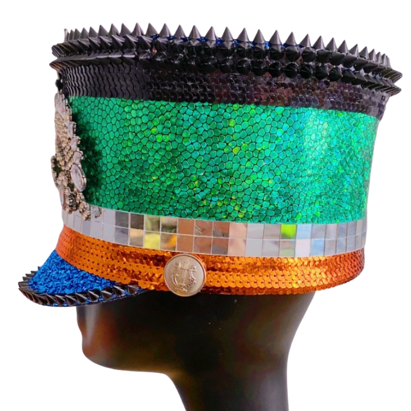 Spikes n Stones Marching Band Hat - The Carly Morgan