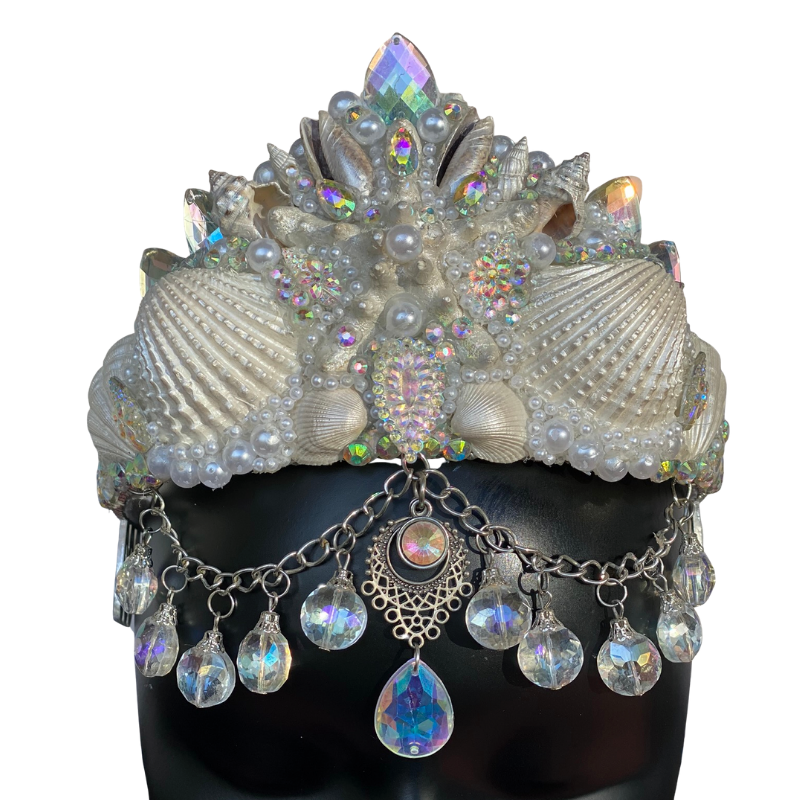 Silver Iridescent Shell Crown - The Carly Morgan