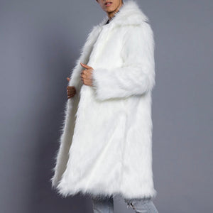 Men's White Faux Fur Jacket - The Carly Morgan