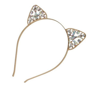 Rhinestone Cat Ear Headband - The Carly Morgan