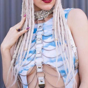 Holographic Body Harness Set - The Carly Morgan