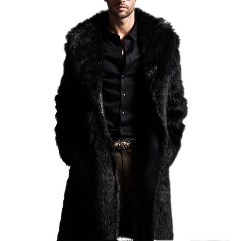 Men's Black Faux Fur Jacket - The Carly Morgan