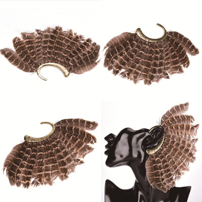 Feather Ear Cuff - The Carly Morgan