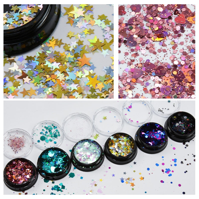 Chunky Holographic Glitter Mix - The Carly Morgan