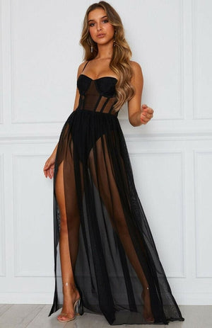 Sheer Bustier Dress - The Carly Morgan