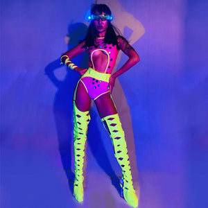 Neon Chaps Bodysuit - The Carly Morgan