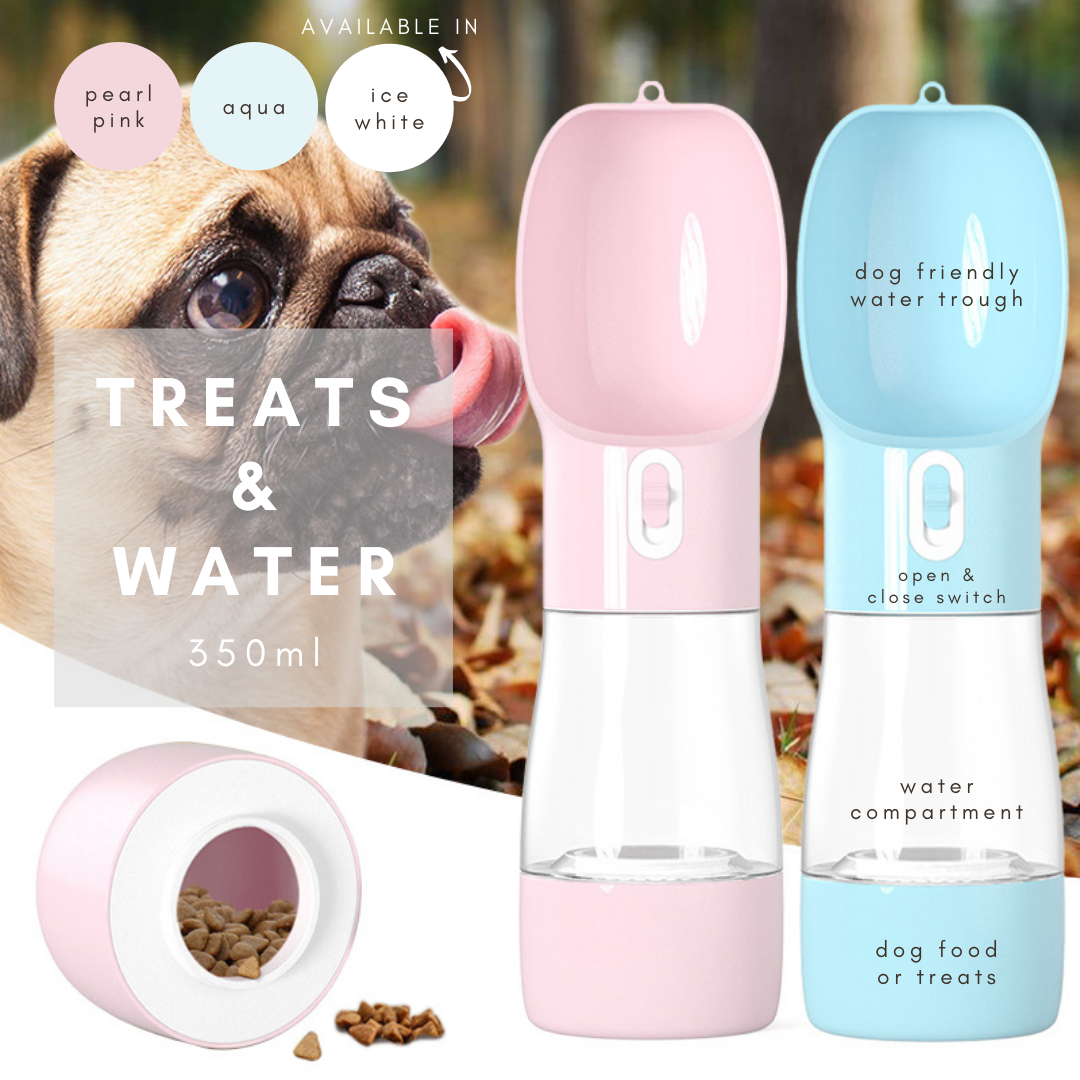 Paw & Splash - the world's best water bottle for dogs!
