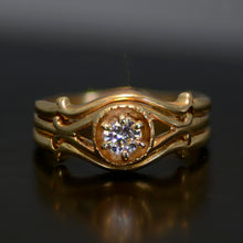 Load image into Gallery viewer, Vintage Estate Ring, Gold and diamond, size 6.75