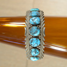 Load image into Gallery viewer, Cuff.  Sterling silver and turquoise cuff.