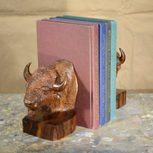 "Load image into Gallery viewer, Thomas Suby with Ramon D.C., ""Bison Bookends"""