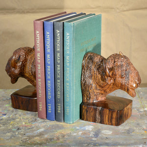 "Thomas Suby with Ramon D.C., ""Bison Bookends"""